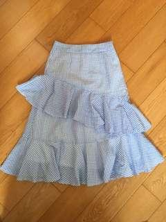 Checkered Midi Skirt 格仔半截裙