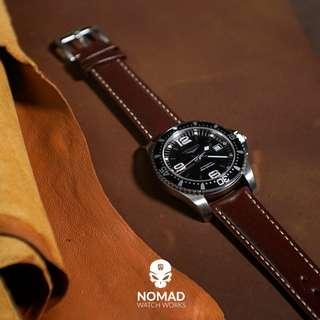 🚚 Quick Release Classic Leather Strap in Brown