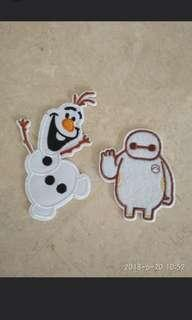🚚 Sew on patch - Olaf and Baymax