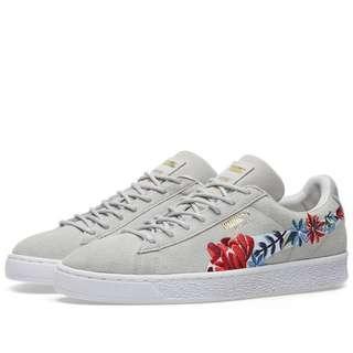 70364b1138b Puma Grey Suede Hyper Embellished Sneakers