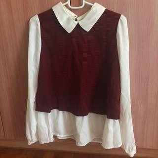 🚚 BNWT Peterpan Collar Blouse
