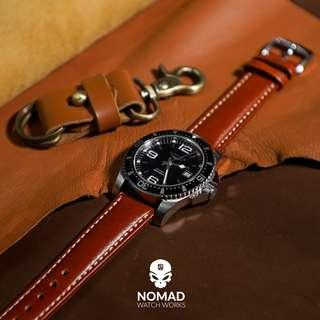 🚚 Quick Release Classic Leather Strap in Tan (available in 18, 20 and 22mm)