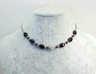 Black & Red Choker Necklace