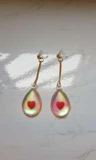 Holographic Valentine's earrings