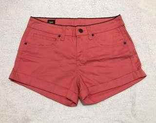 Lee coral shorts