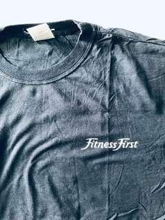 Blue Fitness first T-shirt . 100% cotton . Large