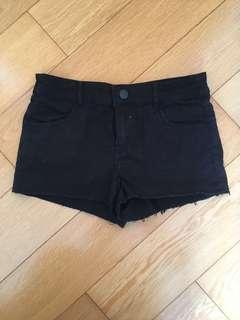Black Denim Shorts 黑色短褲