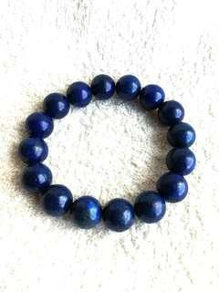 🚚 (10% Off) 12mm Natural Lapis Lazuli Bracelet With Certificate #MakeSpaceForLove 天然的青金石手链-附有证书
