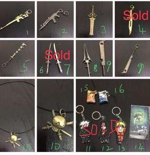 🚚 BN Swords Rifles Keychains Collectibles