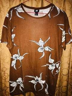 H&M Brown t-Shirts flower