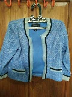 BLUE SNOWFLAKES RUFFLE OUTER