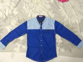 Blue Long Sleeves Shirt