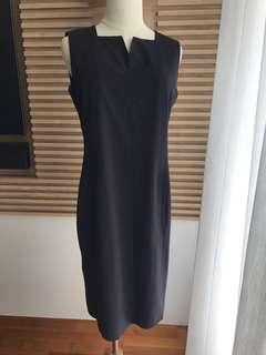 🚚 G2000 Navy Slim Straight-Cut Work Dress