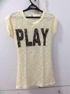 "White ""PLAY"" Shirt"