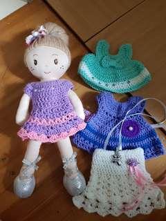 Hand-sewn Doll