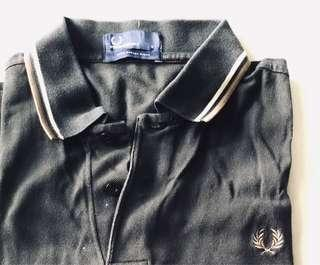 Fred Perry black silver polo shirt