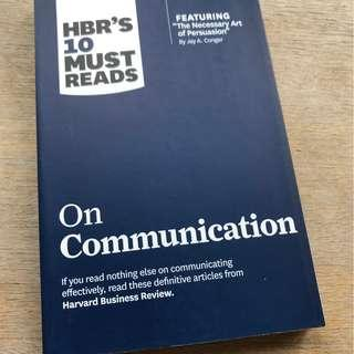 On Communication (Harvard Business Review (HBR) 10 Must Reads)