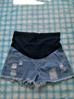 🚚 Denim Maternity Shorts