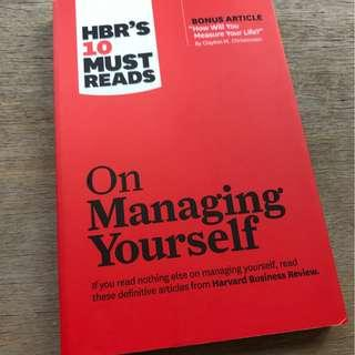 On Managing Yourself (Harvard Business Review (HBR) 10 Must Reads)