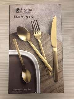 MAXWELL & WILLIAMS餐具套裝 ELEMENTAL 系列 4 Piece Cutlery Set 全新