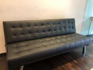 🚚 Stylish black Sofa Bed