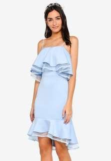 🚚 Zalora Blue Ruffles Mermaid Dress XL 14 42