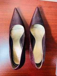 Heels Nine West Size 7M Leather Upper