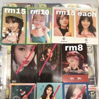 CLEARANCE Twice Assorted Photocards