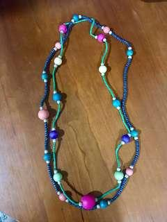 Multi-colored Long Necklace Set of 2