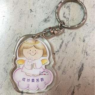 小天使 座右銘 雙面鎖匙扣
