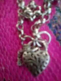 Sterling silver Belcher padlock bracelt
