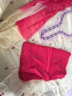 Punjabi suit material cotton new 3 pcs
