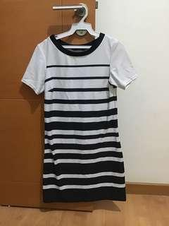 Dorothy Perkins Striped black and white dress