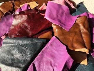 100% Leather pieces, offcuts & remnants 2kg @ $30