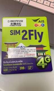 東南亞8天上網卡(2019年3月到期)平價賣出!!