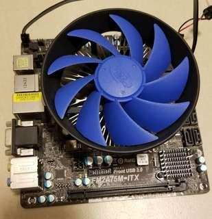 AMD A8 5600K + ASUS FM2A75M MINI ITX BOARD