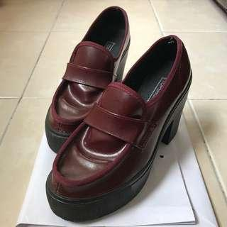 Topshop Maroon Shoes