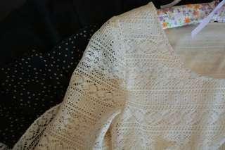 Cute Korean Lace Dress S