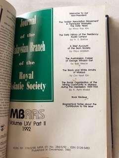 JMBRAS Vol LXV Part I and II