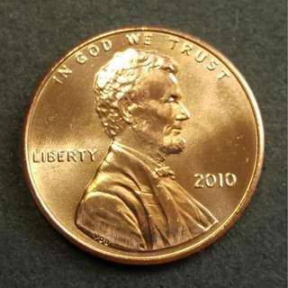 [靚原光] 2010年 美國林肯一仙美金 硬幣一枚
