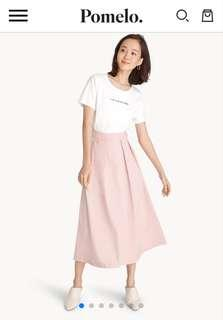 Beautiful New Pomelo Pink Pleated Skirt Size M