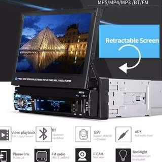 """🚚 New Retractable 7"""" Touchscreen LCD Car Player - Radio Bluetooth USB/Card Movie/Music Player"""