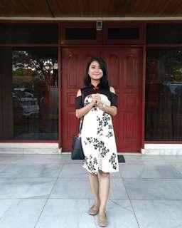 Qi bao cheongsam cream dress