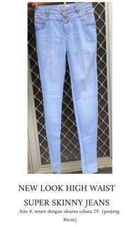"""NEW LOOK High Waist Super Skinny Jeans - Size 28"""""""