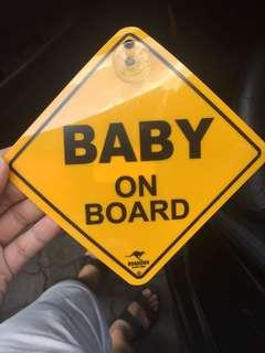 Baby in car/ Baby on board Sign