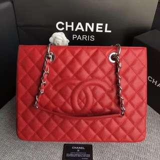 chanel grand shopping tote (ltd edition red)