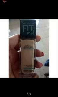 Preloved maybelline fit me foundation shade 222 true beige