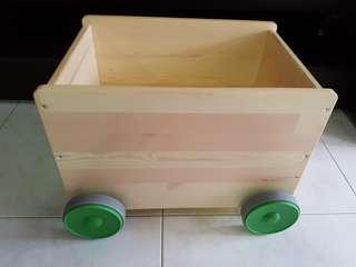 Ikea flisat children wooden storage with wheels