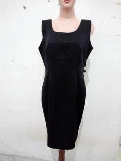 Dress hitam tanpa lengan fit to L