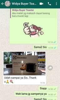 Another positive feedback.. thank you a lot my customer 😊😊